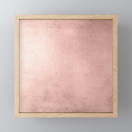 Blush Rose Gold Ombre  Framed Mini Art Print