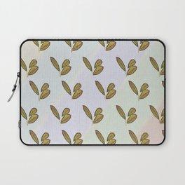 Very stylish hand drawn retro botanical interior and textile design pattern on canvas Laptop Sleeve