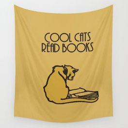 Cool cats read books Wall Tapestry