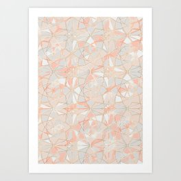 Pattern Rose Triangle Art Print