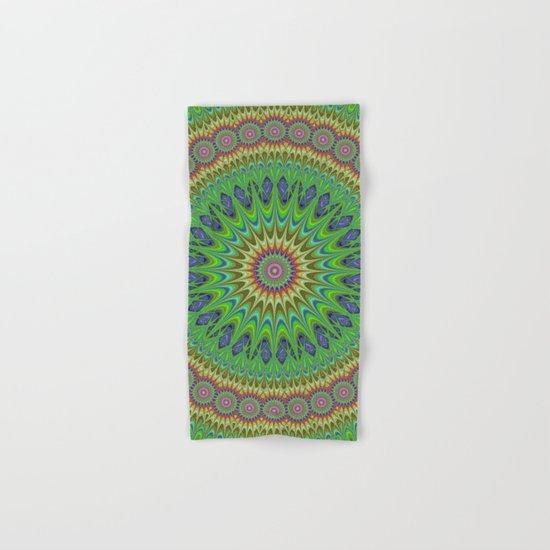 Spring star mandala Hand & Bath Towel