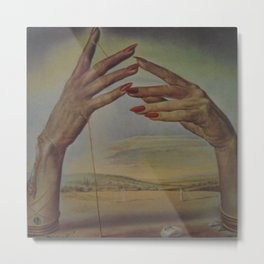 PORTRAIT OF A PASSIONATE WOMAN  (The Hands)  by Salvador Dali Metal Print
