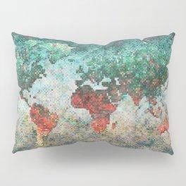 World Map Square Pillow Sham