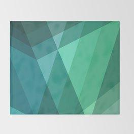 Fig. 046 Mint, Sea Green, Blue & Teal Geometric Throw Blanket