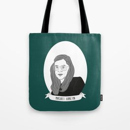 Margaret Hamilton Illustrated Portrait Tote Bag