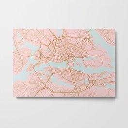 Stockholm map, Sweden Metal Print