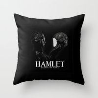 hamlet Throw Pillows featuring Hamlet: Prince of Mars by Caitlin Taduran