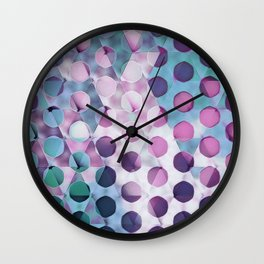 Circles on Triangles Lavenders Blues Wall Clock