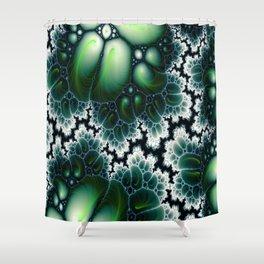 Featherscape Fractal Shower Curtain