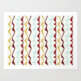 Jagged Stripes Art Print