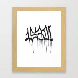 1530 Graffiti Handstyle Framed Art Print