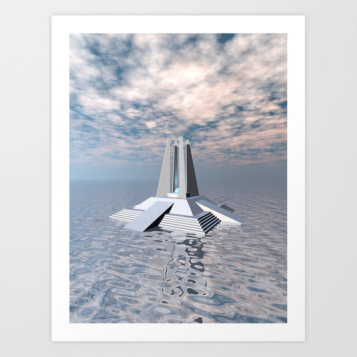 Structural Tower of Atlantis Art Print