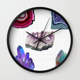 Crystal studies (colour) Wall Clock