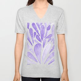 Watercolor artistic drops - lilac Unisex V-Neck