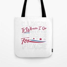 Illinois American Patriotic Memorial Day Tote Bag