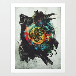 Circle of Life Surreal Study Art Print