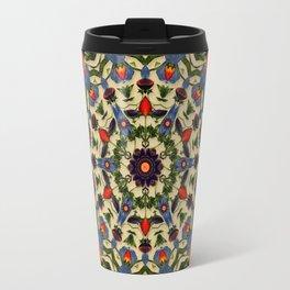 Flower and Fruit Collage Mandala Travel Mug