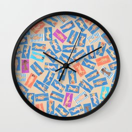 NUDE BEACH, pattern by Frank-Joseph Wall Clock