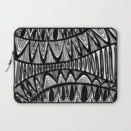 Original Creative black and white pattern illustration Laptop Sleeve