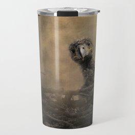 Lone Eaglet In The Nest Travel Mug