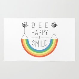 Bee Happy and Smile Rug