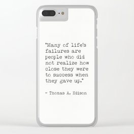 Thomas A. Edison Clear iPhone Case