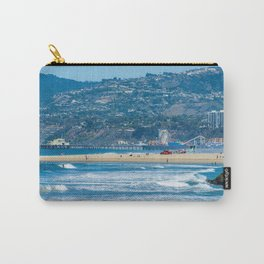 Rare view of Santa Monica, Pier & Pacific Palisades from Venice Pier Carry-All Pouch