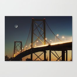 New Moon Bridge Canvas Print