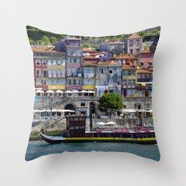 Porto houses, Portugal Throw Pillow