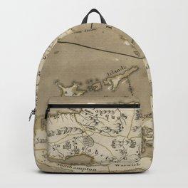 Vintage Map of Bermuda and Jamaica (1767) Backpack