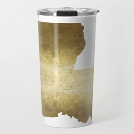louisiana gold foil state map Travel Mug