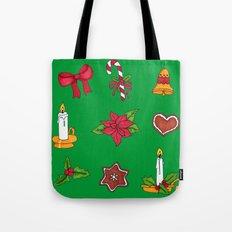 Christmas pattern (#2 green) Tote Bag
