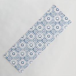 Indigo Moroccan Tile Yoga Mat
