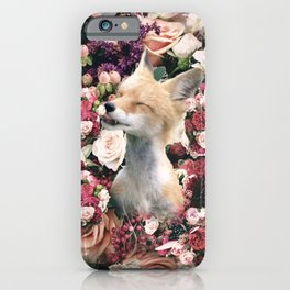 Cute Floral Fox Flower iPhone Case