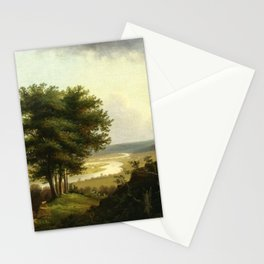 Victor de Grailly - Traveler by the Oxbow, Connecticut River Stationery Cards