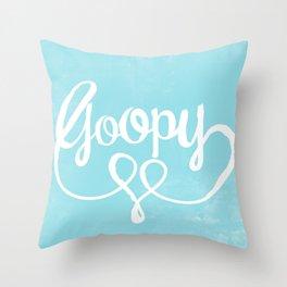Goopy — Blue Throw Pillow