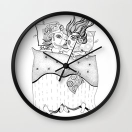 Love under the blanket Wall Clock