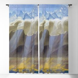 Sun Over Southern Mountains and Sea landscape by Jens Ferdinand Willumsen Blackout Curtain