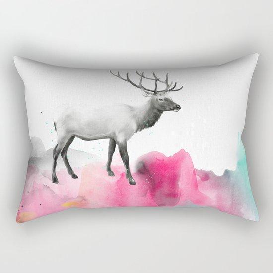 Wild No. 2 // Elk Rectangular Pillow