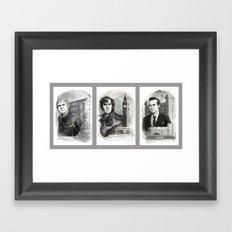 Sherlocked Trio Framed Art Print