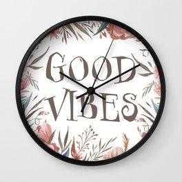 Good Vibes of Autumn Wall Clock