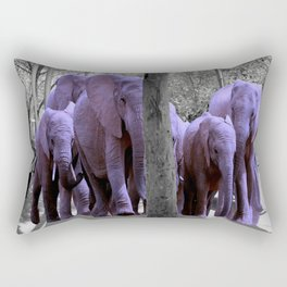 Purple guests Rectangular Pillow