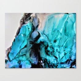 Turquoise Smolder Canvas Print