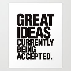 Great Ideas Typography Quote  Art Print