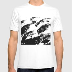 The Flow MEDIUM White Mens Fitted Tee