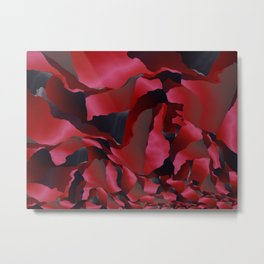 Red frayed abstraction Metal Print
