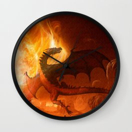Dragon's world Wall Clock