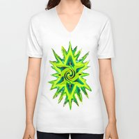 rasta V-neck T-shirts featuring RASTA STAR by EclecticArtistACS