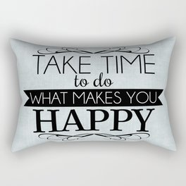 Take Time - Blue Rectangular Pillow