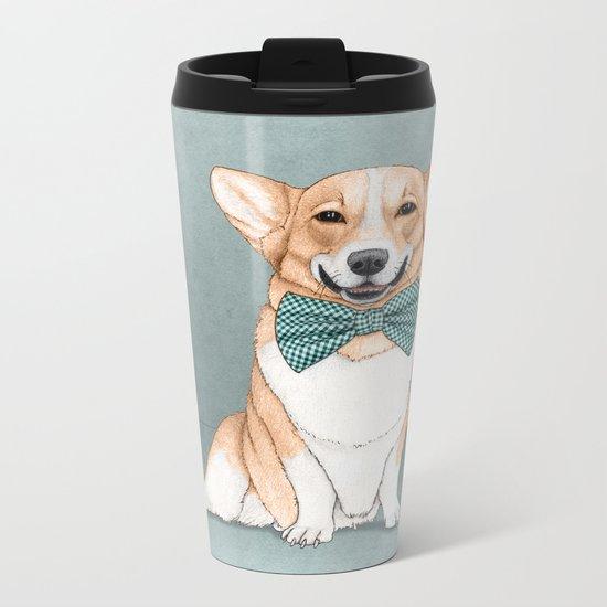 Corgi Dog Metal Travel Mug